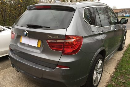 BMW X3 2013 Rear view
