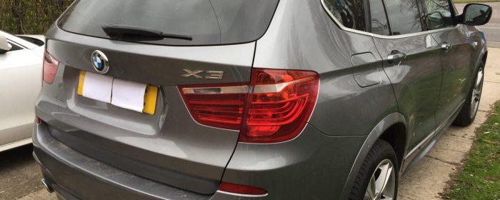 BMW X3 2013 Rear view